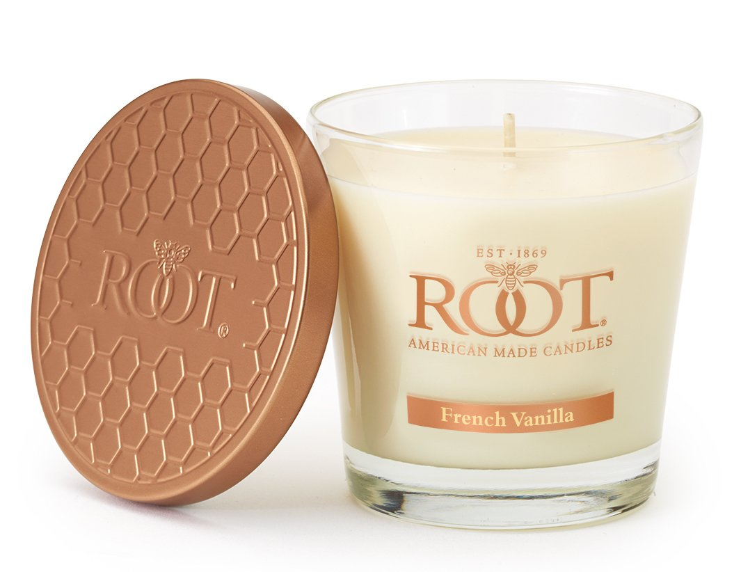 Root Candles Honeycomb Veriglass Scented Beeswax Blend Candle French vanilla