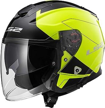 LS2 nbsp;- Casco de Moto Of521 Infinity Beyond, color negro y amarillo de
