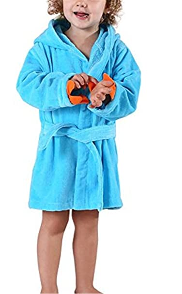 YOGLY Albornoz para Niños Toalla con Capucha Bata de Baño con Capucha de la de Felpa Pijamas Camisón: Amazon.es: Ropa y accesorios