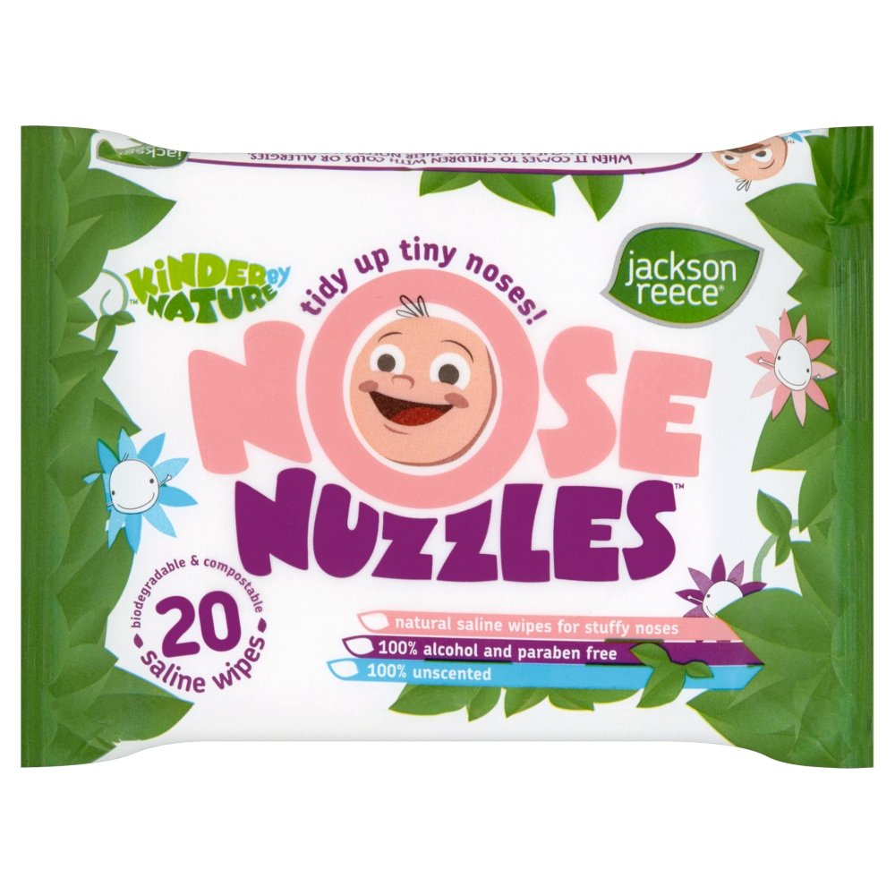 Jackson Reece Nose Nuzzles Wipes-8 x Packs of 20 (160 Wipes) JR32