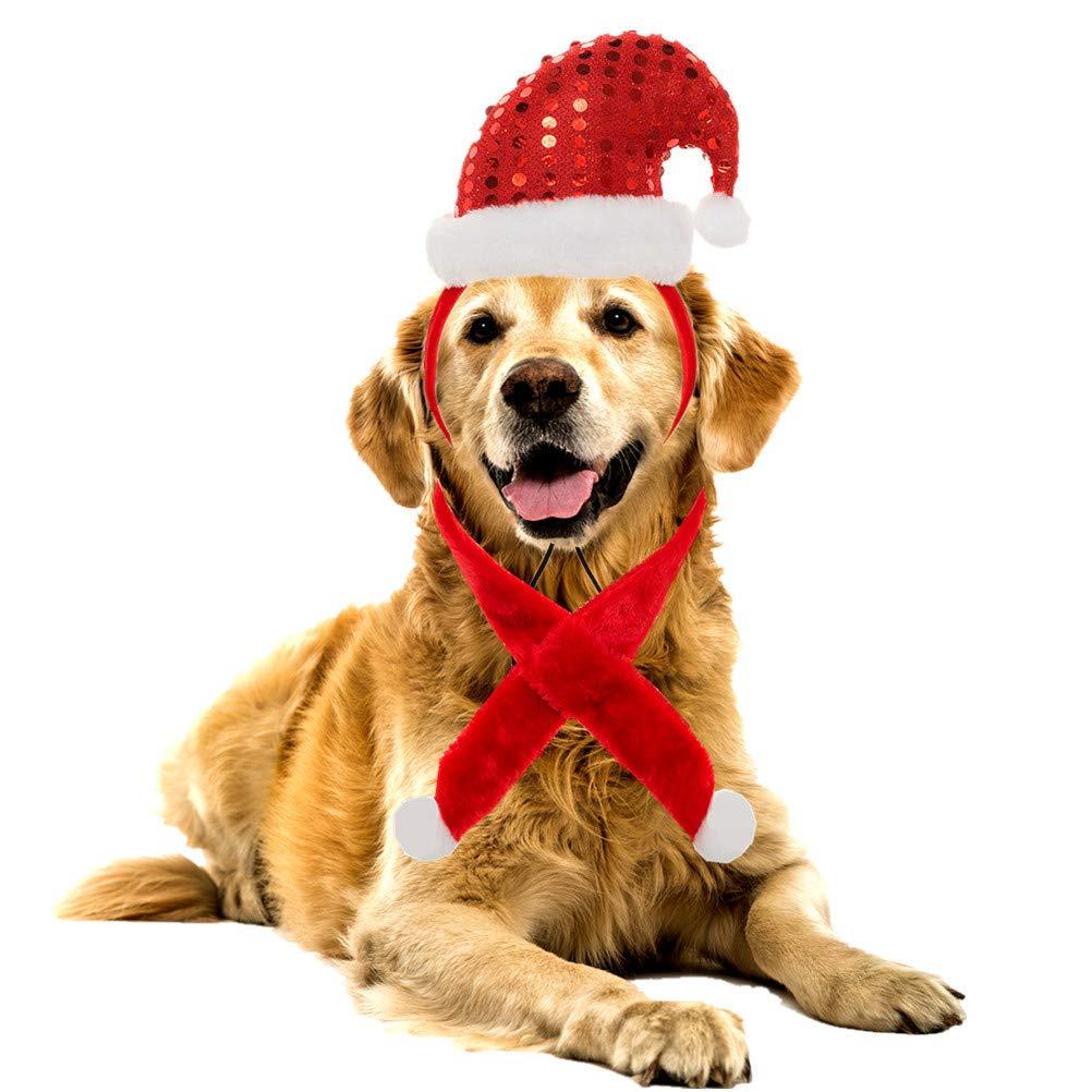 SCENEREAL CO Accesorio de Uso Juego de pa/ñuelos de Navidad para Perro