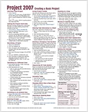 Microsoft Project 2007 Quick Reference Guide: Creating a Basic Project (Cheat Sheet of Instructions, Tip & Shortcuts - Laminated Card)