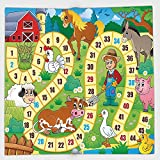 Cotton Microfiber Hand Towel,Board Game,Rustic Farmhouse Agricultural Environment Animals Spring in Woods Nursery Decor,Multicolor,for Kids, Teens, and Adults,One Side Printing