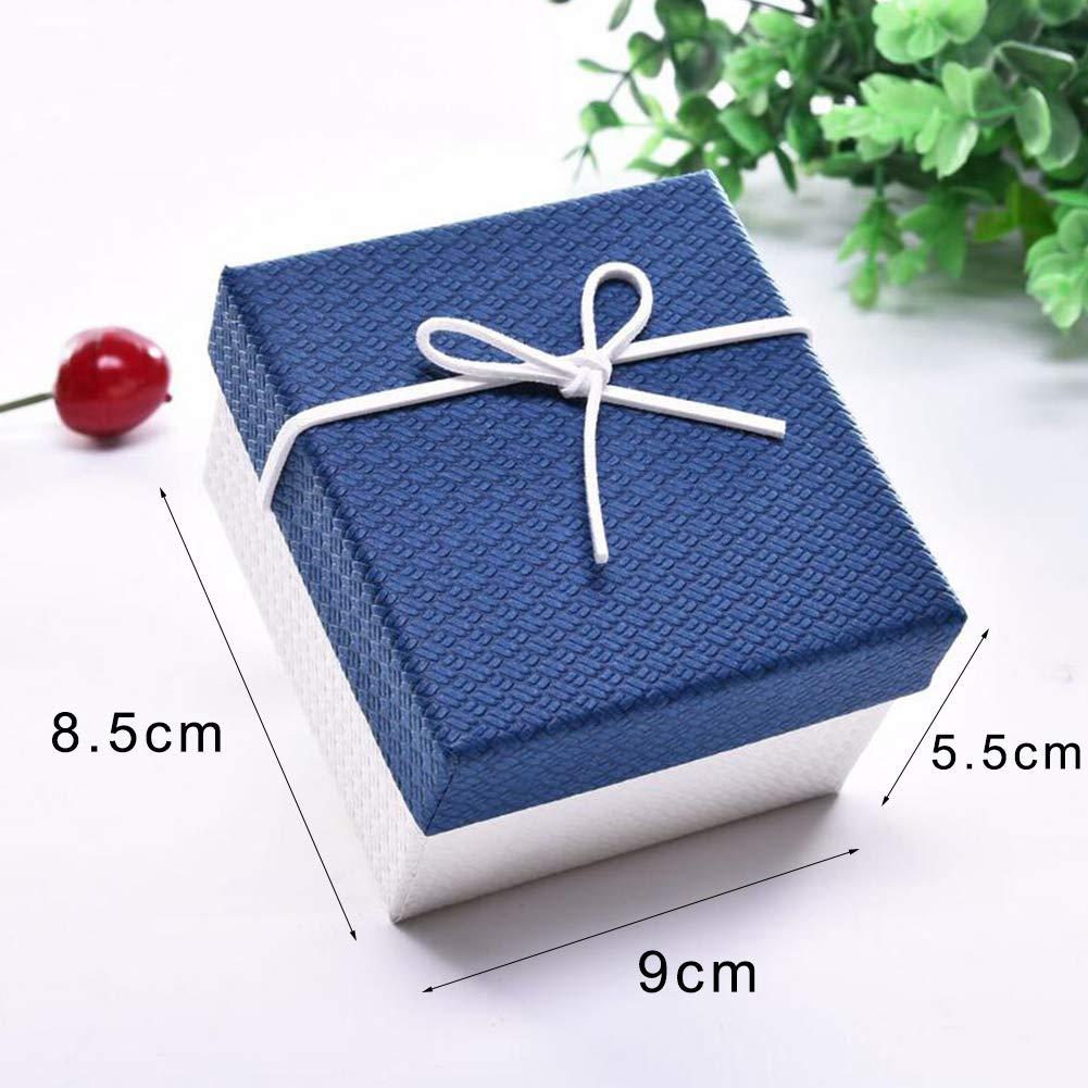 Jorzer 6pcs Creative Fente Unique Bo/îte De Montre Exquise Montre Affichage Box Bo/îte De Rangement Petit Cadeau Bo/îte Bague Pendentif Coffret Cadeau
