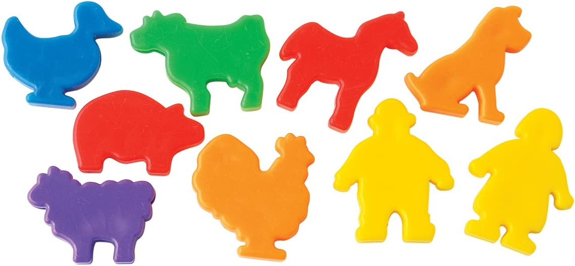 The Beadery 1 Pound Mix of Farm Animal Beads, Multi Colors