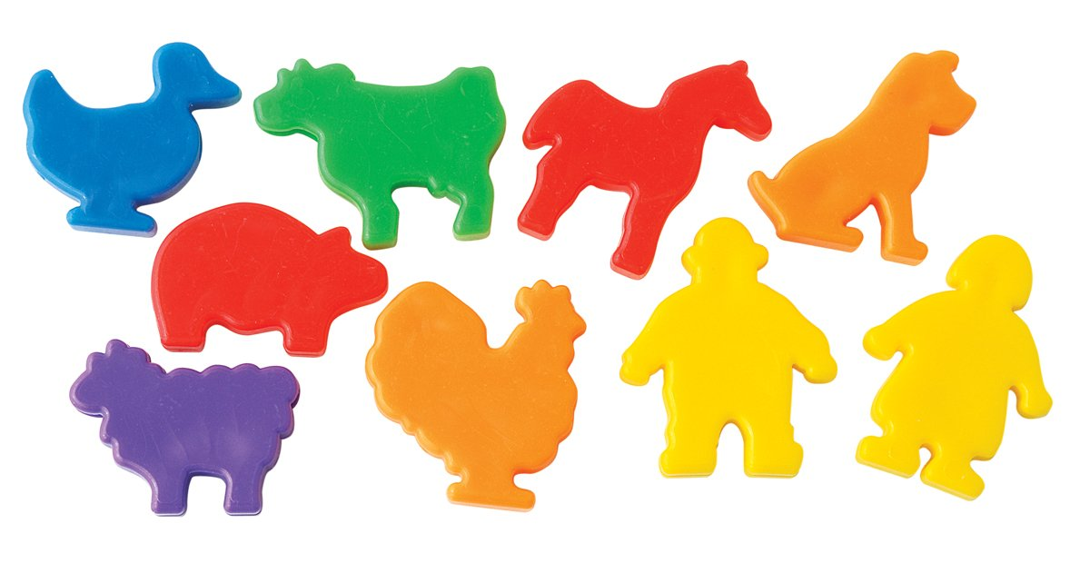 The Beadery 1 Pound Mix of Farm Animal Beads Multi Colors