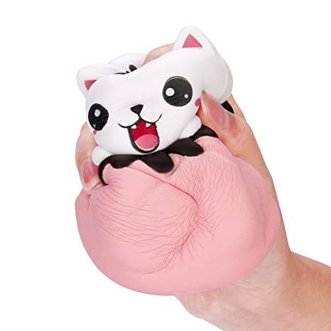 Juguetes de limpieza EUZeo_Toy, juguetes de alivio de estrés EUZEO, 13,5 cm, juguete de crecimiento lento para gatos ...