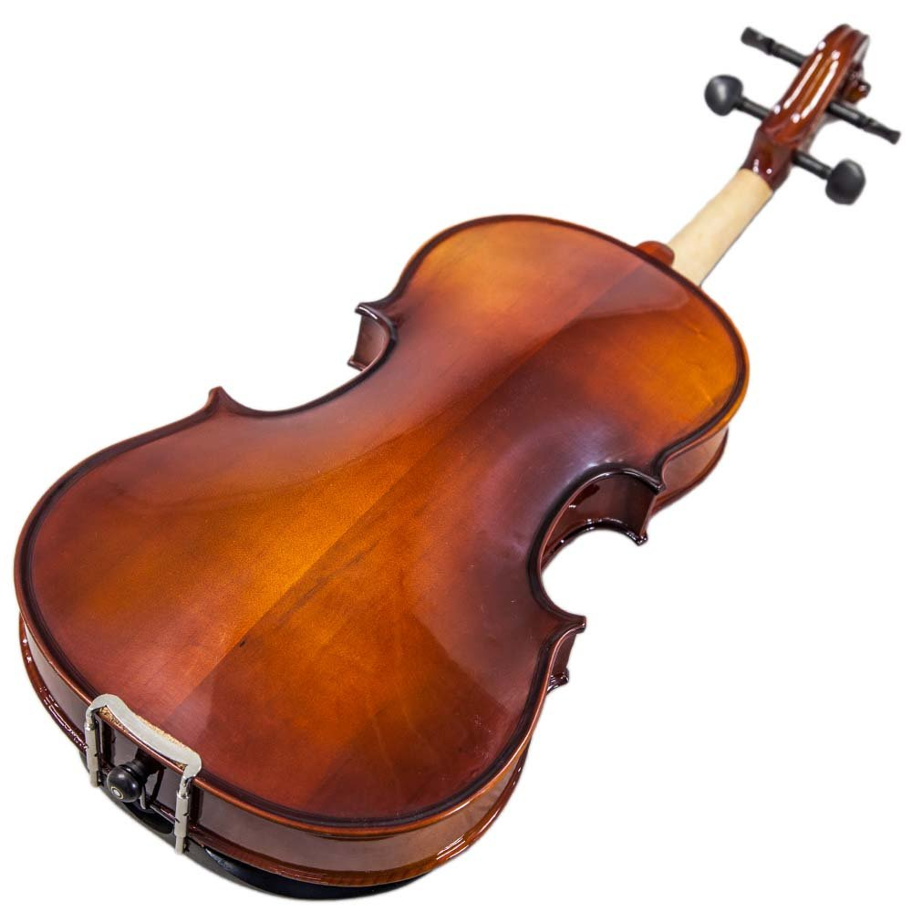 Paititi 14'' Size Upgrade Solid Wood Ebony Fitted Viola With Case Bow, Shoulder Rest and Rosin (14'') by Paititi (Image #4)