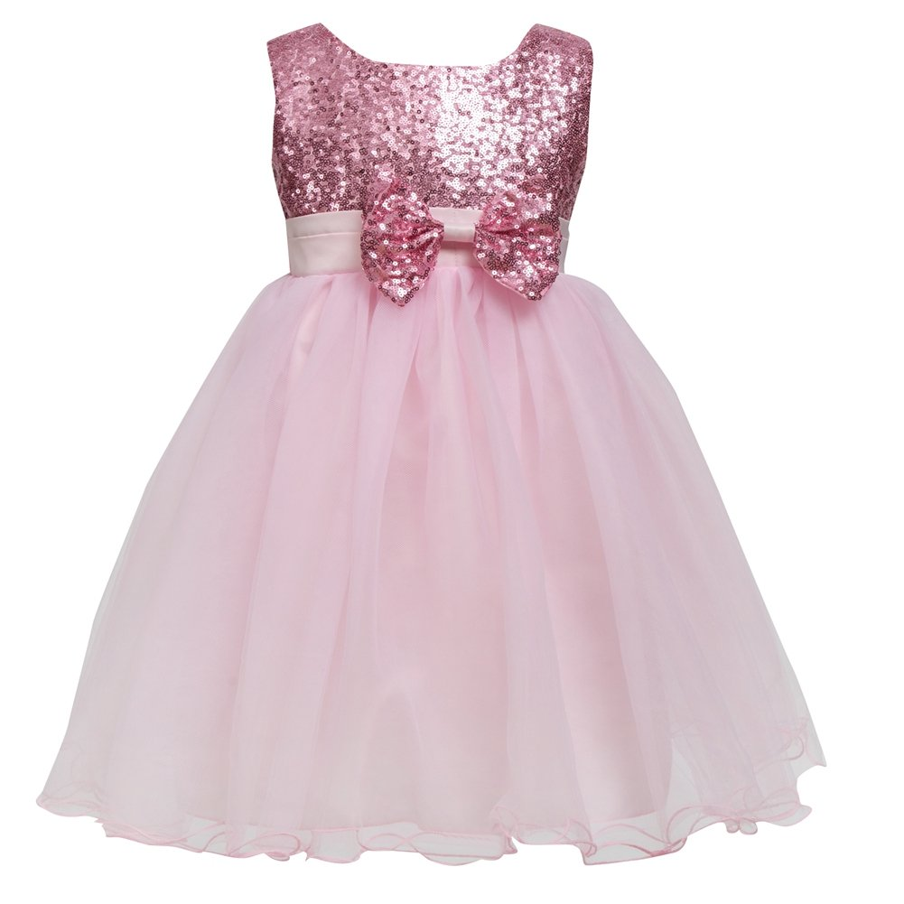 a04334cfa Galleon - Merry Day Flower Baby Girl Sequin Dress - Kids Princess ...
