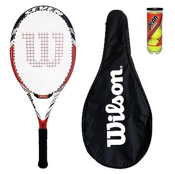Wilson BLX Seven raqueta de tenis cubierta + + 3 pelotas: Amazon.es: Deportes y aire libre