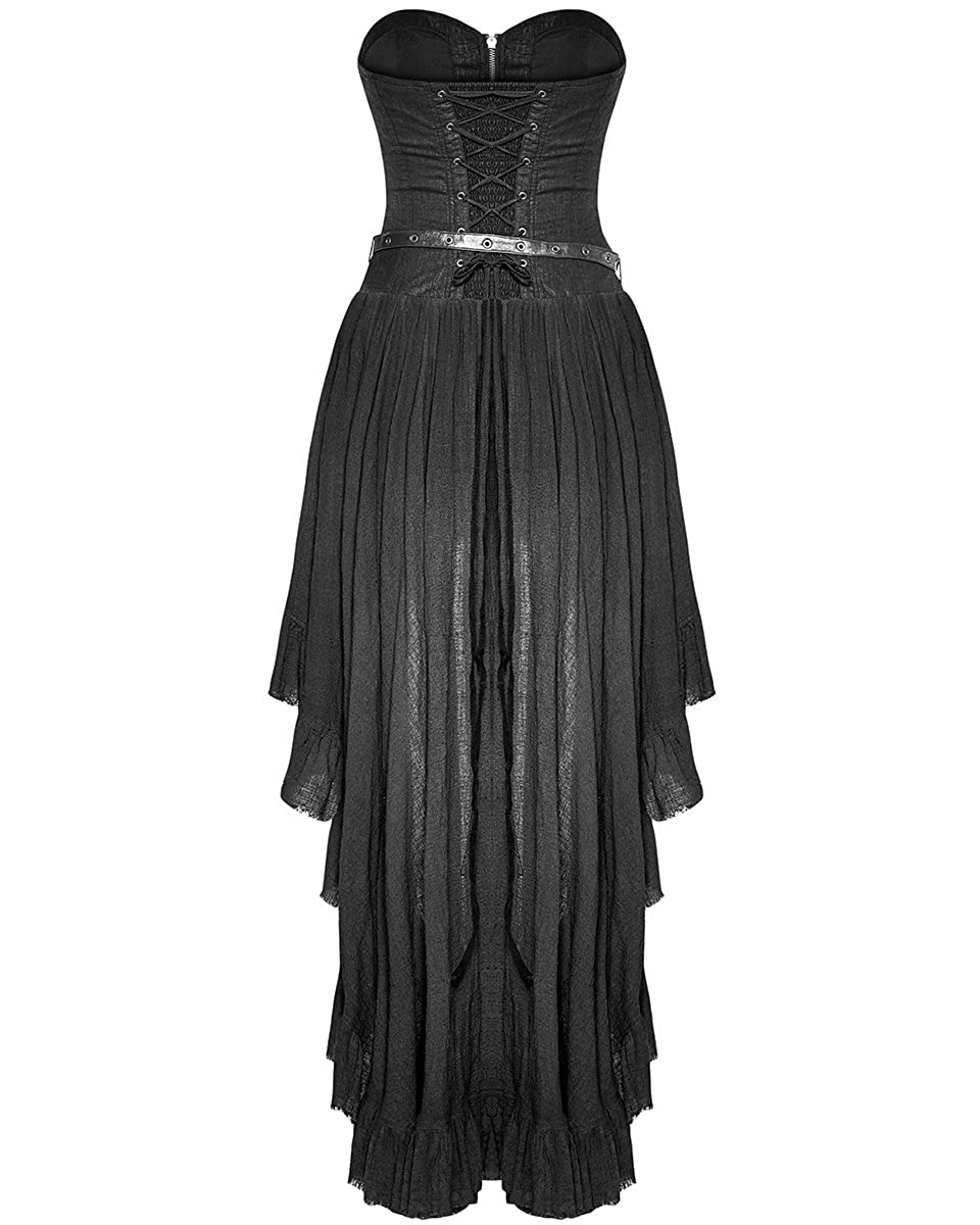 341f679383d8 Punk Rave Gothic Steampunk Dress Black Long VTG Victorian Military Gypsy  Hip Bag  Amazon.co.uk  Clothing