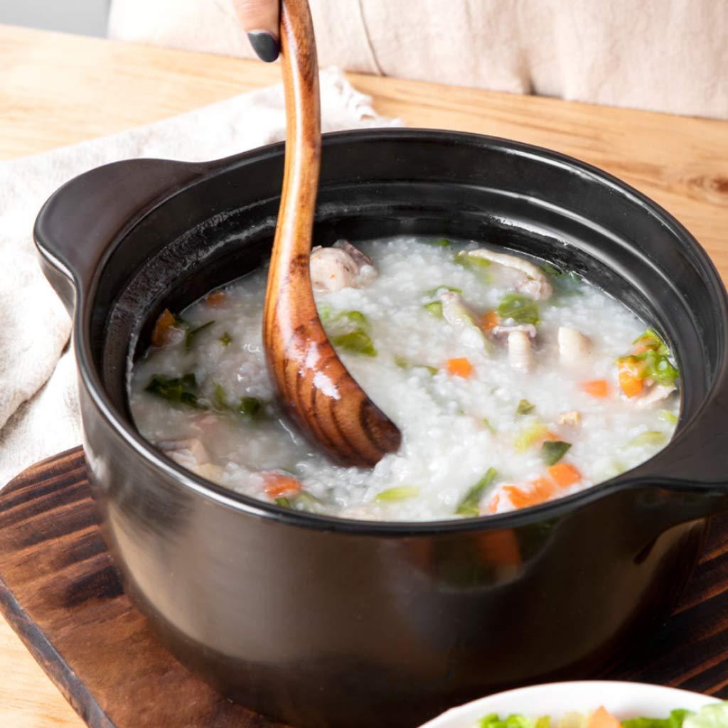 Cacerola Estufa de Gas para el hogar Olla de Sopa cerámica de Alta Temperatura cazuela Sopa olla-3L: Amazon.es: Hogar