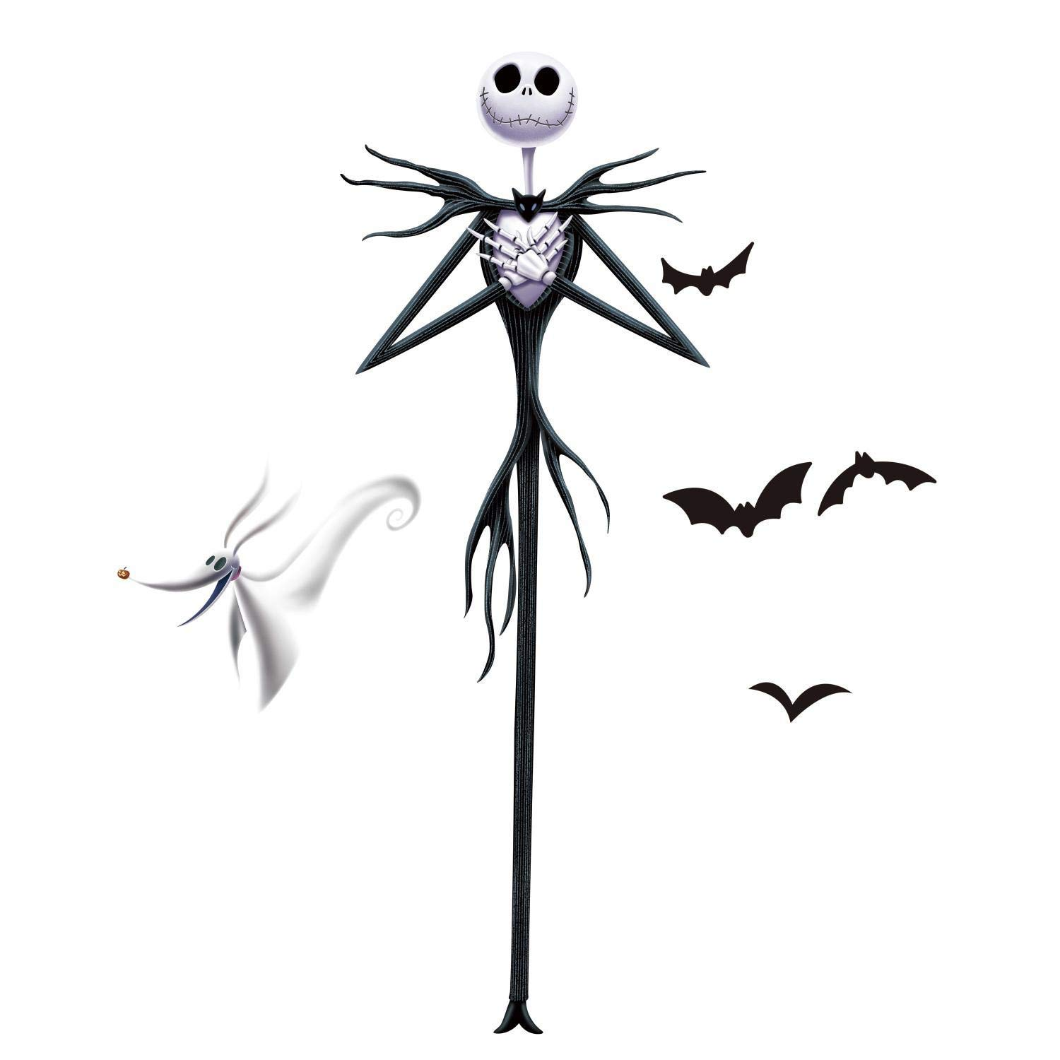 RoomMates The Nightmare Before Christmas Jack Peel And Stick Giant Wall Decals by RoomMates