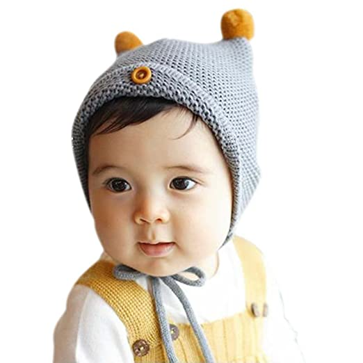 Amazon.com  Fedi Apparel Baby Infant Cotton Cute Hat Boy Girl Knitted Hat  Warm Winter Caps  Clothing c2802fb9b3a