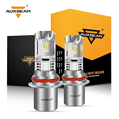 Auxbeam 9004 Led Headlight Bulbs F-M3 Series 50W 5000lm 6500K ZES LED Chip Hi/Lo Beam Headlight Conversion kit: Automotive
