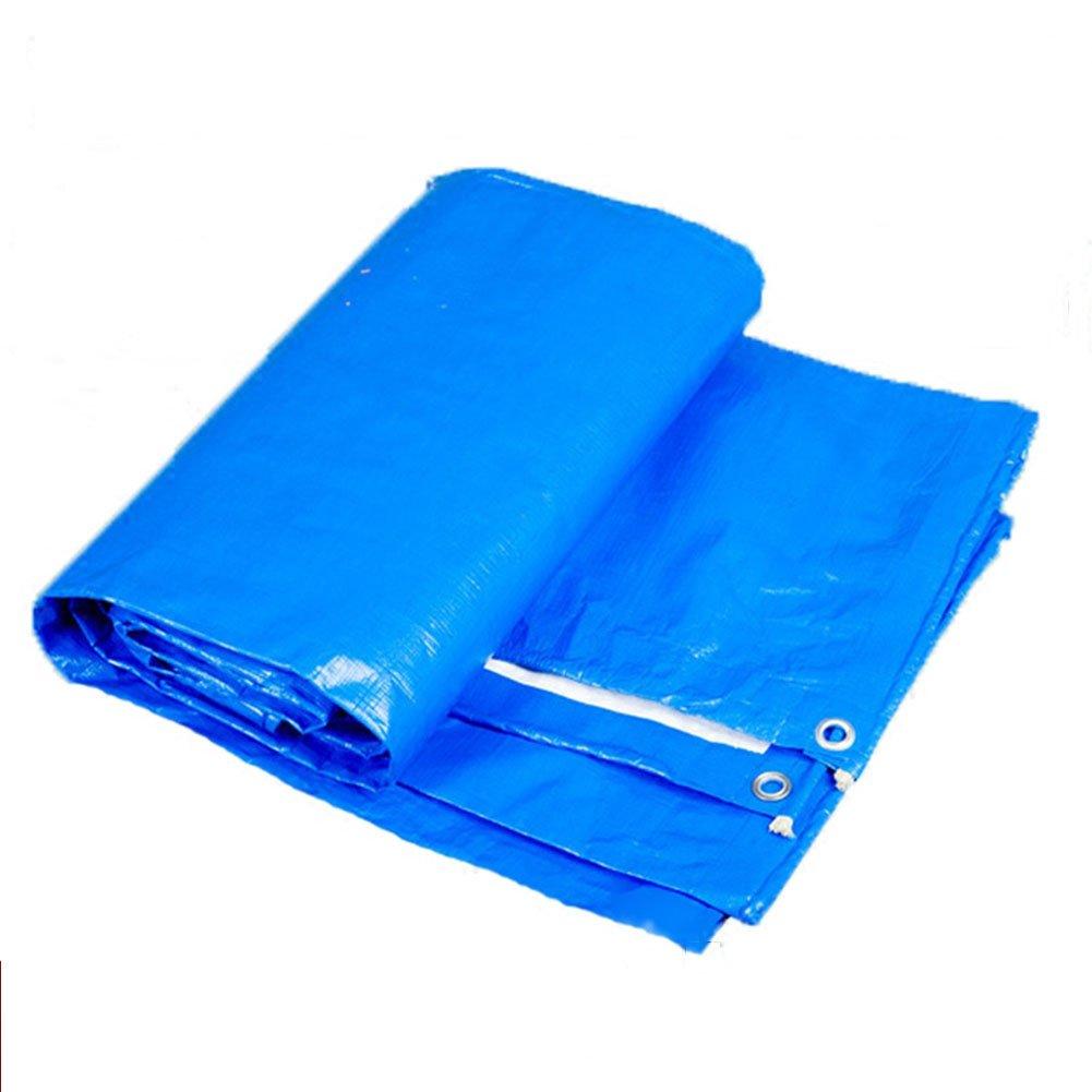 KKCF オーニング ターポリン 日焼け止め 防水 防塵の カーポート ポリエチレン 厚さ:0.350.4ミリメートル 、170±10G / M 2 、20サイズ (色 : Blue, サイズ さいず : 8x10m) B07FXB97C2 8x10m|Blue Blue 8x10m