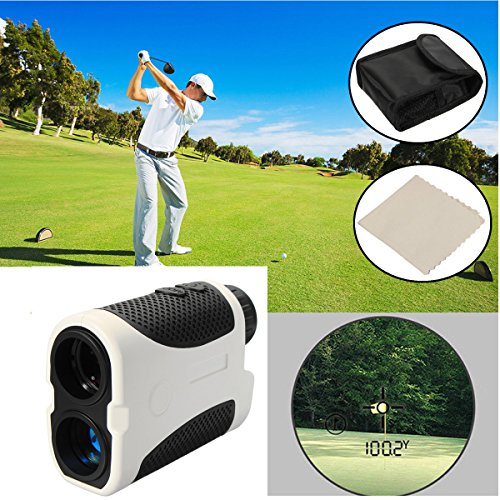 400m Golf Rangefinder Slope Compensation Angle Scan Pinseeking Club + Case by Krittapas Intertrade