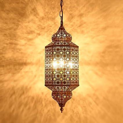 Pn Cc Moroccan Chandelier Ceiling Light Shade European Retro Lanterns Crafts Light Hotel Restaurant Bedroom Corridor Amazon Co Uk Kitchen Home