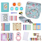 Andoer 14 in 1 Accessories Kit for Fujifilm Instax Mini 8/8+/8s w/ Camera Case/Strap/Sticker/Selfie Lens/5*Colored Filter/Album/3 Kinds Film Table Frame/10*Wall Hanging Frame/40*Border Sticker