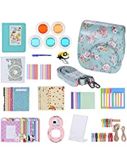 Andoer 14 in 1 Accessories Kit for Fujifilm Instax Mini 8/8Plus/8s/9 w/Camera Case/Strap/Sticker/Selfie Lens/5 Colored Filter/Album/3 Kinds Film Table Frame/10 Wall Hanging Frame/40 Border