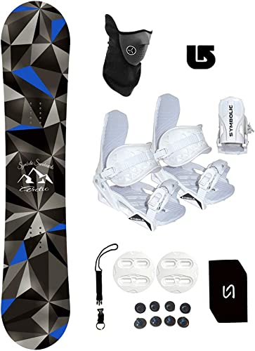 Symbolic Arctic Kids Snowboard White Bindings Package