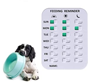 WIOR Dog/Cat Feeding Reminder, Magnetic Daily Pill/Medication Reminder with Glide Sign, Did You Feed The Dog/Cat/Pet/Kid Reminder Tracker, 3 Times A Day for Old People - Prevent Overfeeding or Obesity