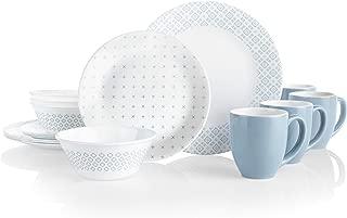 product image for Corelle Boutique Square Farmstead Blue 16-Piece Dinnerware Set, Service for 4