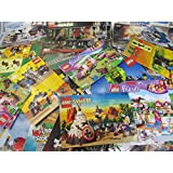 Mix of 20 Lego Instruction Books - 1980s-2000s Star Wars, Ninjago, Harry Potter, Castle, City, Town, Friends, Space Etc