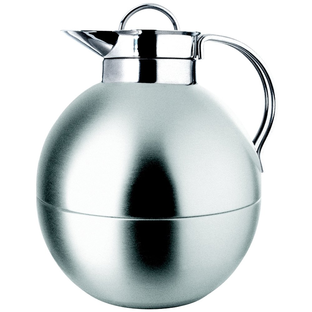 alfi 'Kugel' (Sphere) 0101205094 Insulated Thermos Can 0.94 L Matte Stainless Steel