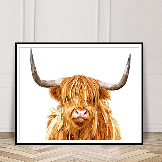 Home Decor No Frame Cow Picture Yak Poster Canvas Painting Nordic Style