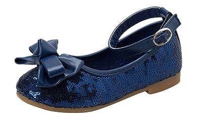 ce768ff1 GESELLIE Girls Mary Jane Glitter Sequin Bow Ballerina Flat (Toddler/Little  Kid) Navy