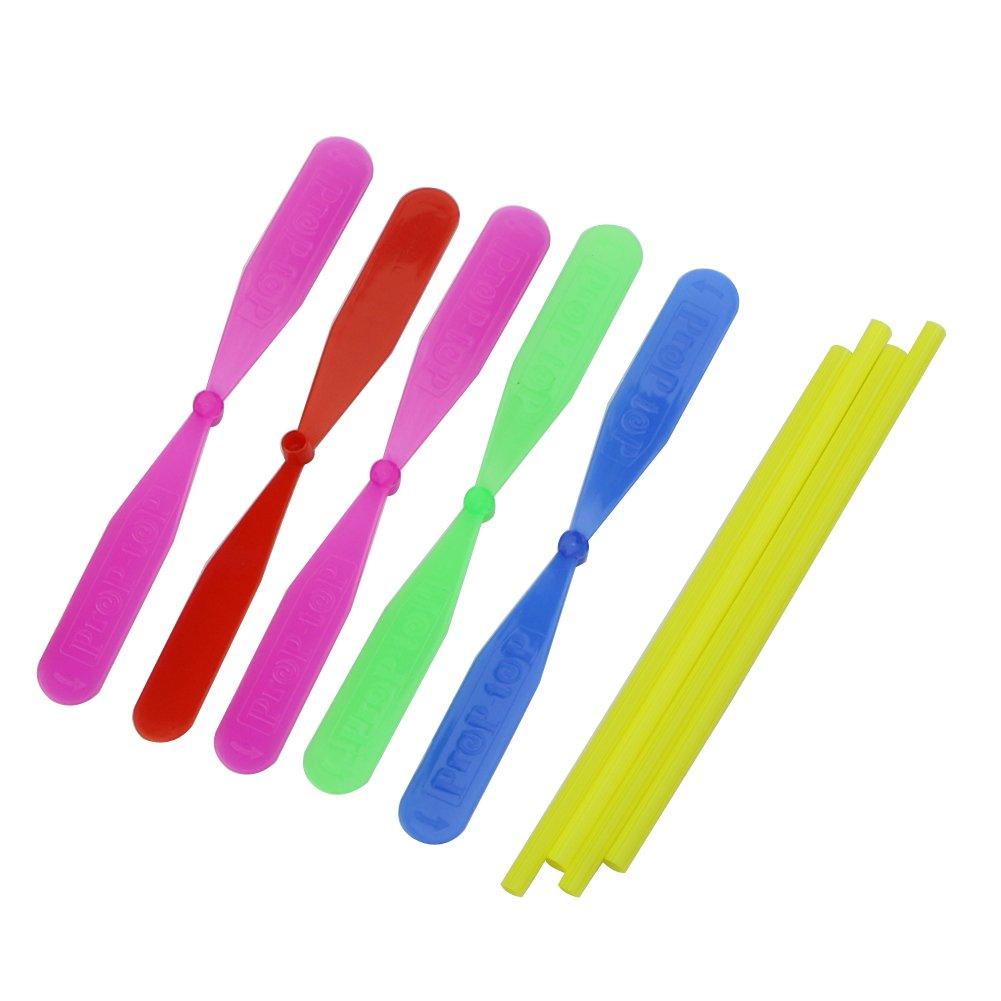 Hélice de libélula de bambú para exteriores, juguete para niños, 12 unidades de plástico juguete para niños 12 unidades de plástico Freshsell