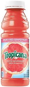 Tropicana Juice Ruby Red Grapefruit, 15.2 oz Plastic Bottle (Pack of 24)