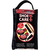 JobSite Shoe Care Shine Kit - Travel Bag - Includes: Shine Brush, Shoe Polish, Polish Sponges, Shoe Horn, Shine Cloth