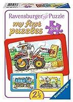 Ravensburger 06573 - My First Puzzles - Bagger, Traktor und Kipplader, 3 x 6...
