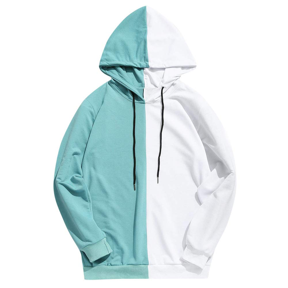 Toimothcn Mens Casual Colorblock Hooded Pullover Autumn Winter Male Slim Fit Hoodie Sweatshirt 2356488 Toimothcn-619805