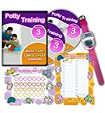 Potty Training In 3 Days - Ultimate Potty Training for Girls. Complete Kit Includes Potty Training In 3 Days Audio Guide, Laminated Potty Training Charts & Pink Potty Time Watch (Pink): more info