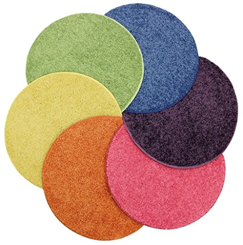Bright multi set 6 children 39 s crazy carpet circle seats 18 for Round rugs for kids