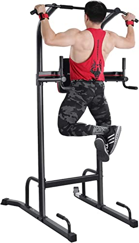 MaxKare Power Tower Pull Up Dip Station Home Workout Equitment Multi-Function Stable Exercise Fitness Strength Training Equitment