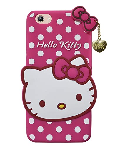 best authentic 9ca51 3f352 COVERNEW Hello Kitty Rubber Back Cover for Vivo Y71-1724 - Pink