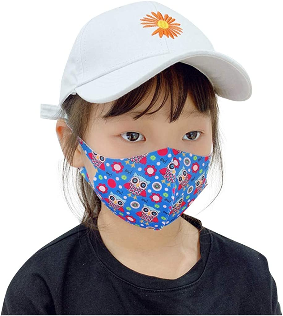 Children Mouth Mask, Unisex Cotton Super Cute Fashion Face Mask Anti-Dust Mask Black for Boys and Girls with for Kids O