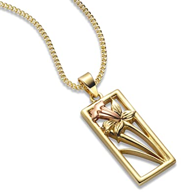 437f26a52 Clogau Gold 9ct Yellow and Rose Gold St Davids Daffodil Pendant:  Amazon.co.uk: Jewellery