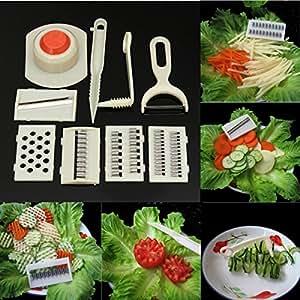 11 in 1 Kitchen Multifunction Vegetables Slicer Cutter Shredder Peeler