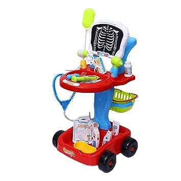 Toyvian Juego de Carrito de Niños Juguete de Médicos Juguetes Educativo para Niños Sin batería (Rojo): Amazon.es: Juguetes y juegos