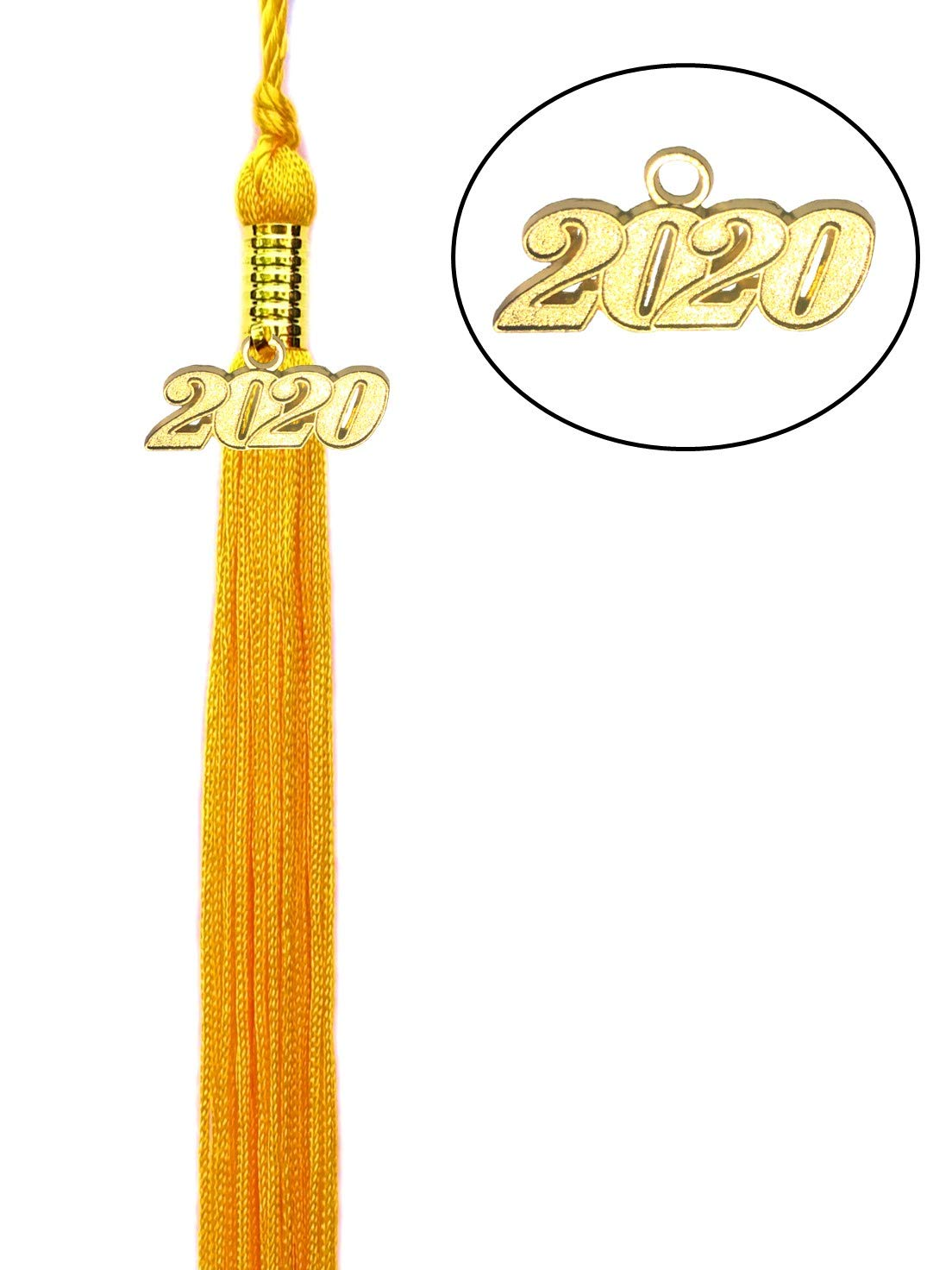 Quality Grad Red Graduation Tassel with 2020 Gold Charm for Graduation Cap or Souvenir