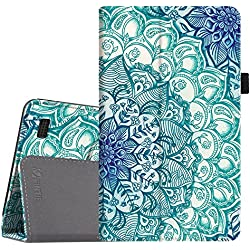 Fintie Folio Case for All-New Amazon Fire 7 Tablet (7th Generation, 2017 Release) - Slim Fit PU Leather Standing Cover Auto Wake / Sleep, compatible with Fire 7 (5th Gen, 2015), Emerald Illusions