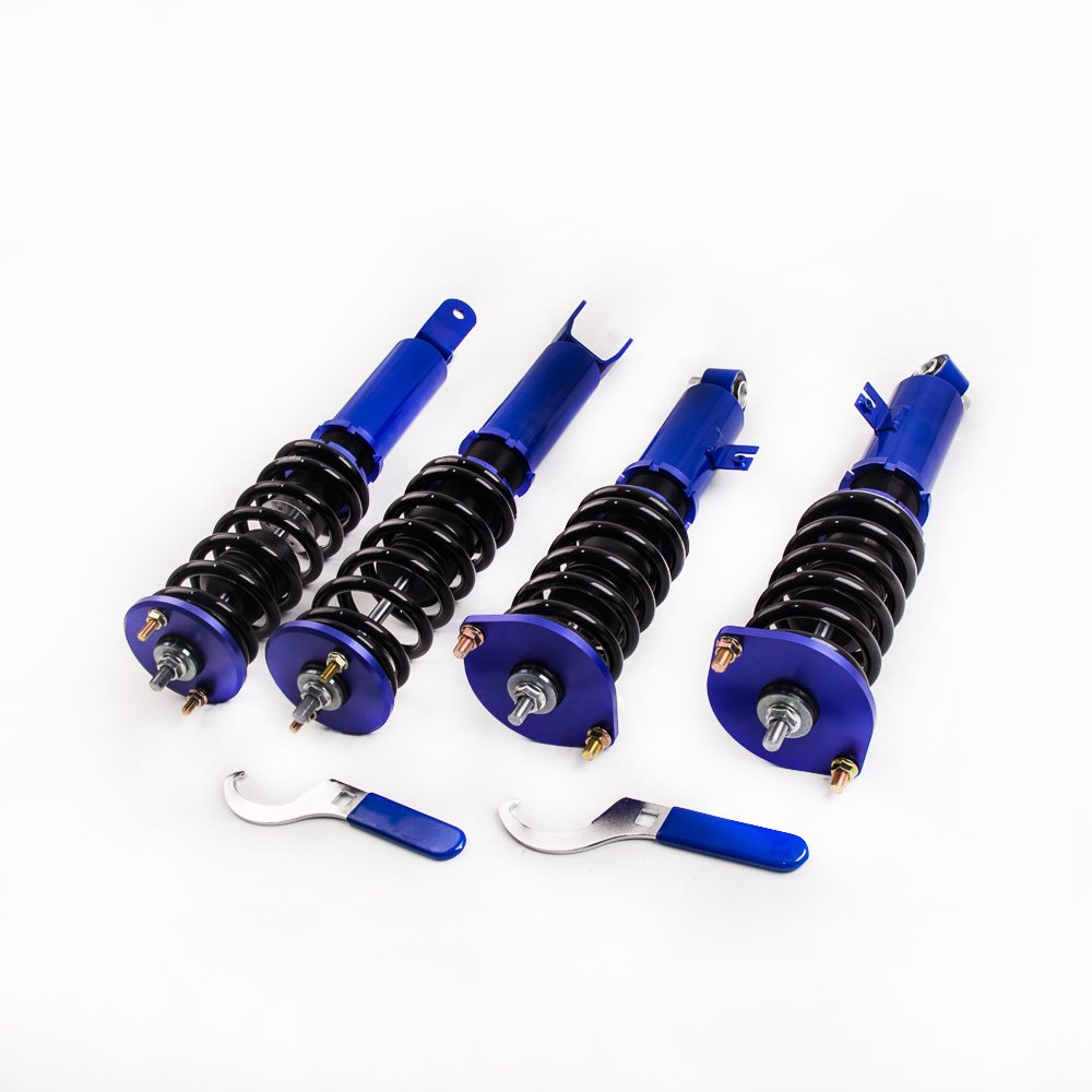 maXpeedingrods Coilovers Suspensión para 1990 - 1996 Nissan 300ZX Z32 Turbo Coupe 2d 3.0L V6 azul: Amazon.es: Coche y moto