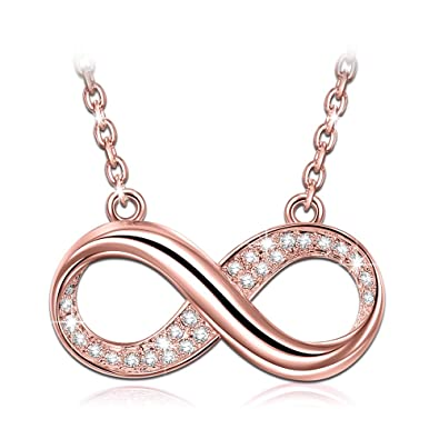 a13f15c93 J.NINA Rose-Gold Plated Pendants Necklace for Mothers Days for Women with  Swarovski