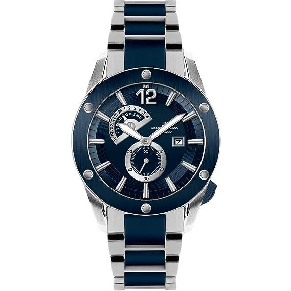 Jacques Lemans – XL Liverpool – Reloj de pulsera analógico automático para hombre revestimiento de acero