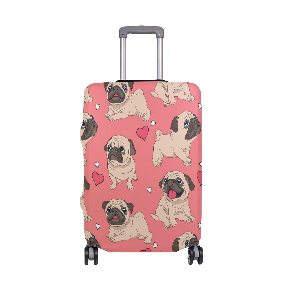 Cute Dog Puppy Love Heart Suitcase Luggage Cover Protector for Travel Kids Men Women